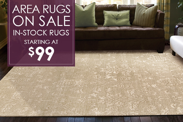 Area rugs on sale! In-stock rugs starting at $99