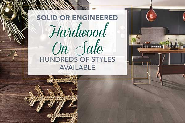Home for the Holidays Sale going on now only at Abbey Carpet & Floor of Hawthorne! Solid or engineered hardwood on sale – hundreds of styles available
