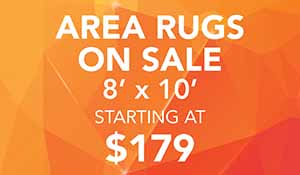 Area rugs on sale 8 x 10 size starting at $179