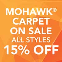 Mohawk carpet is on sale during our Gold Tag Flooring Sale. Smartstrand and Smartstrand Silk in all styles are 15% off
