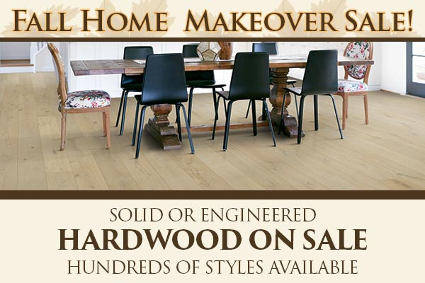 Save on Solid or Engineered Hardwood flooring during our sale