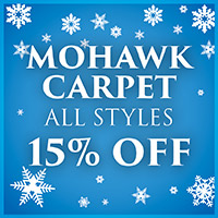 Mohawk carpet on sale during our New Year New Floor sale. Smartstrand and Smartstrand Silk. All styles are 15% off