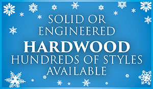 Solid or engineered hardwood on sale during our New Year New Floor sale. Hundreds of styles available.